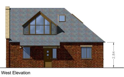Textured/shadowed elevation from Sketchup model for planning, Cheltenham