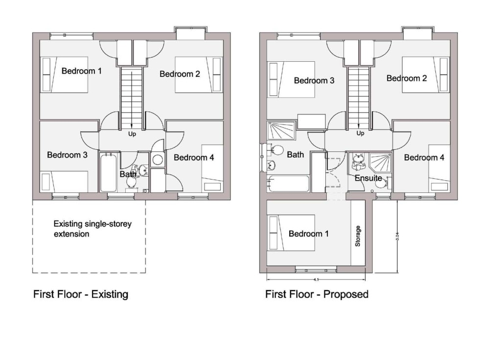 Planning Drawings on house elevation illustration