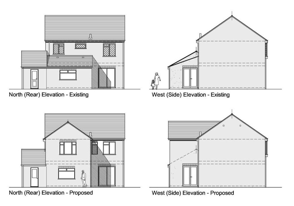 Planning drawings for Residential house plans and elevations