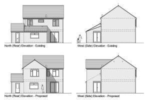 H2, Planning drawings, elevations, Journeyman draughting, architecture