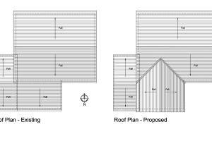 H3, Planning drawings, roof plans, Journeyman draughting, architecture