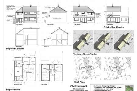 First floor extension over garage, planning drawings, shadow modelling, architect