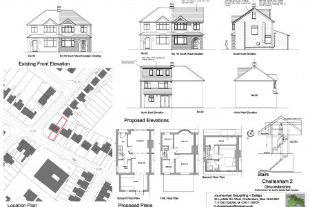 Semi detached house, planning, architect, Journeyman Draughting, extension
