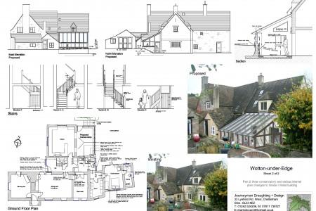 Planning drawings, Journeyman Draughting, Job-sheet, Grade 2 listed, house, architect