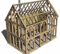 3D modelling-green oak frame, Cotswold, Cheltenham, planning, extension