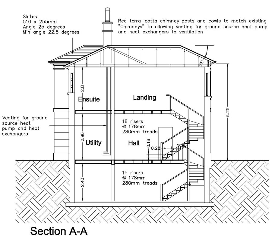 House Section Planning Application Journeyman 5 Architect