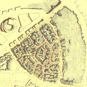 Early sketch area from Isle of Gods, Ankh Morpork, growth, organic, planning, urban design, architecture, architect