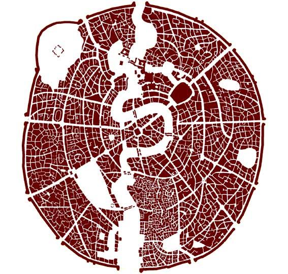 graphic design, Density, public/private, urban design, architecture, architect, terry pratchett