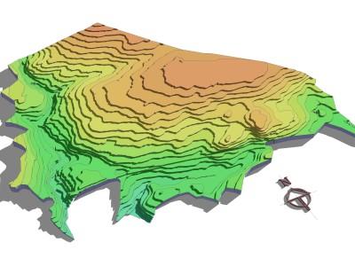 3D modelling Journeyman  planning  Contours 2