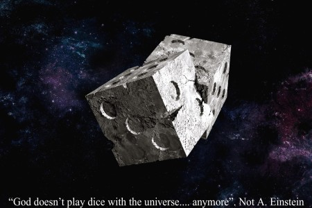 God doesn't play dice with the universe...anymore
