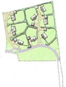 Housing layout for planning Dingle 4, hand-drawn, access road, Journeyman