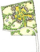 Housing layout option, for planning application-Dingle 6, hand-drawn