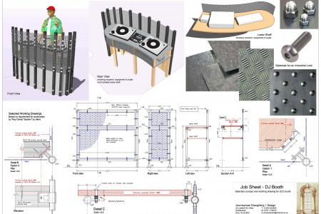 Key-clamp construction details, sketchup modelling, improvised components