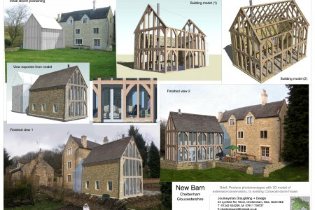 Modelling for extension, planning, Cotswold hills, Cheltenham, Gloucestershire, extension
