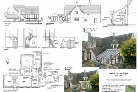 Planning drawings, Journeyman Draughting, Job-sheet, Grade 2 listed, house, architect