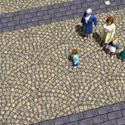 Texture drawing with people for scale, human scale, paving pattern, textures