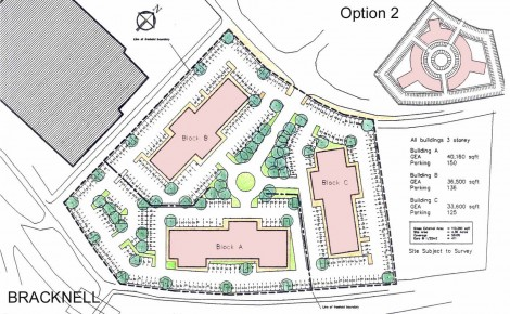 Parking layout, soft landscaping, for valuation, with circus alternate layout, development