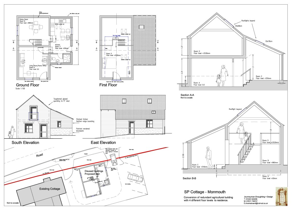 Planning drawings for New building design plan