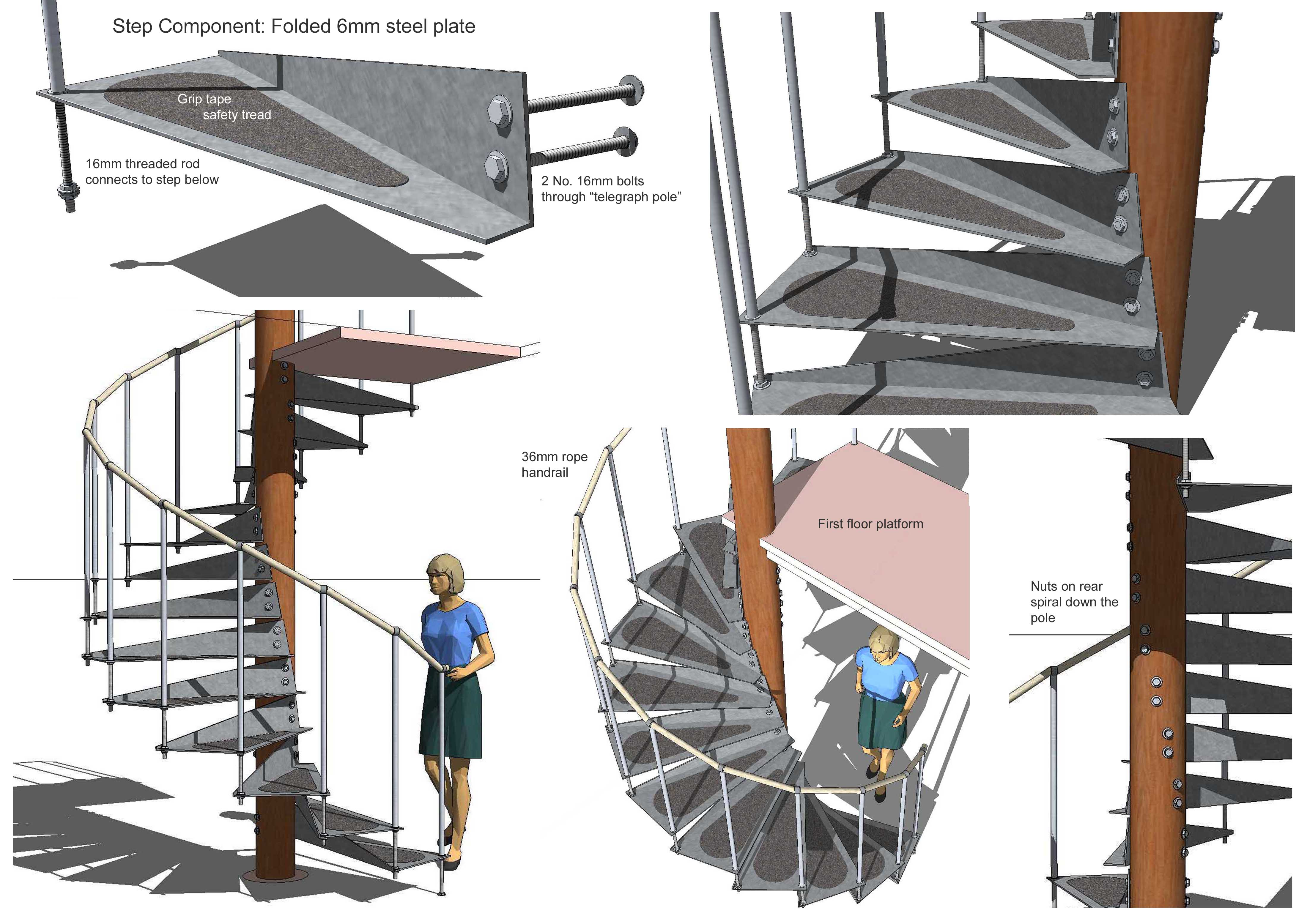 Spiral Stair Steve Composite